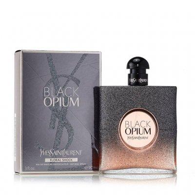 عکس دوم عطر بلک اوپیوم فلورال شوک 100 میل - تصویر دوم عطر Black Opium Floral Shock  100ml